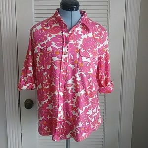 Lilly Pulitzer button down top